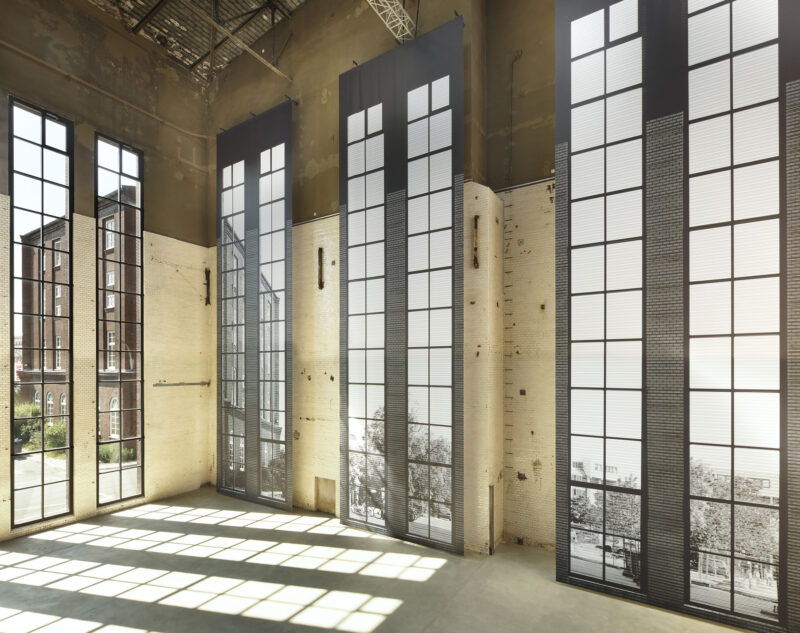 """Bettina Pousttchi, """"Panorama"""", 2019. Installation view: Kesselhaus, KINDL – Centre for Contemporary Art, Berlin. Photo: Jens Ziehe, 2019"""